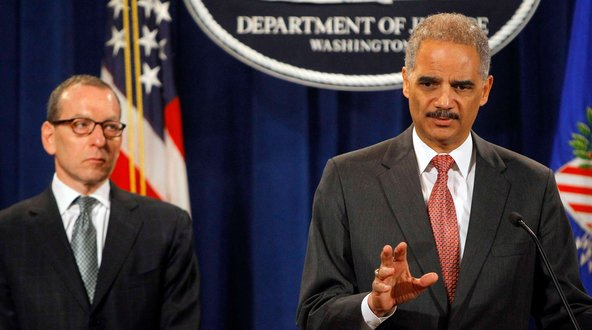 U.S. Attorney General Eric Holder announces $1.5 billion criminal fraud fine paid by UBS>