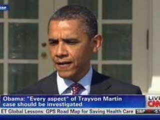 President Barack Obama speaking on Trayvon Martin case.
