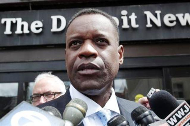 Kevyn Orr at news conference/Reuters