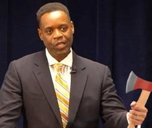 Kevyn Orr with tool of trade.