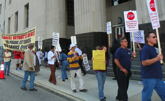 Rally outside courthouse Aug. 2, 2013