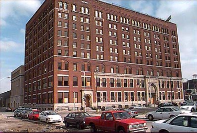 Detroit YMCA before demolition.
