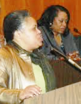 Monica Lewis-Patrick for City Council; Krystal Crittendon for Mayor