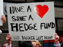 Protest against bank bail-out.