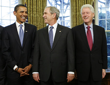 President Barack Obama and former Presidents George W. Bush and Bill Clinton have all waged imperialist wars.