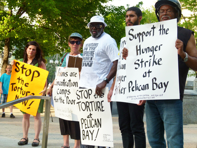 Rally during the first California prison hunger strike in 2011.