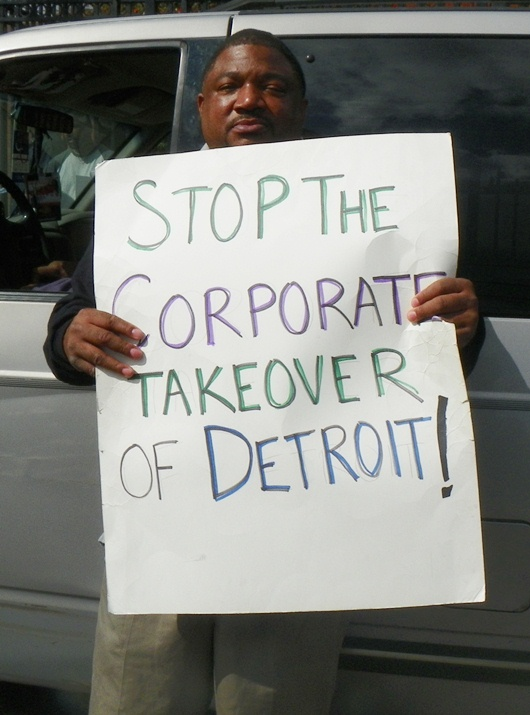 Detroit Wastewater Treatment Plant worker during strike Sept. 30, 2012.