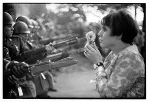 1960's hippies though love would conquer all.