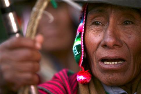 Indigena boliviano.