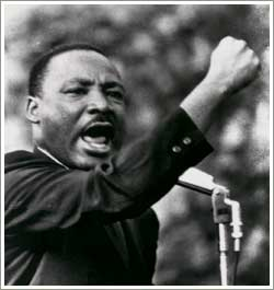 Dr. Martin Luther King, Jr.--assassinated before he could achieve his ultimate goal.