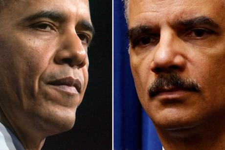 U.S. Pres. Barack Obama, AG Eric Holder, head of the Justice Department