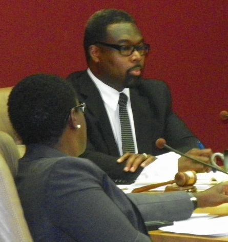 Council members Saunteel Jenkins (l) and James Tate (r) favor the project.