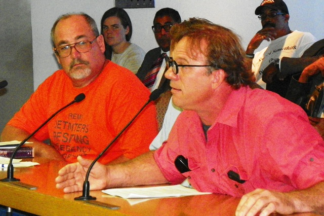 Atty. Tom Stephens of DREM and Howard Dollinger, owner of Cliff Bell's. vehemently opposed the plan.
