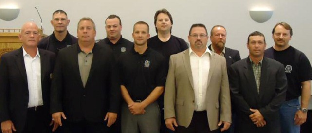 Carpenters Local 687 officers.