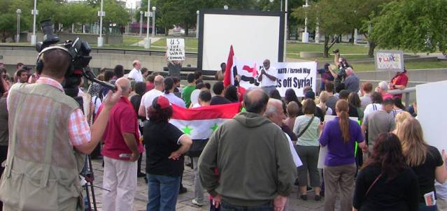 Detroit rally Sept. 8 against war on Syria.