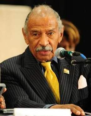 U.S. Rep. John Conyers at Detroit bankruptcy forum Sept. 7, 2013.