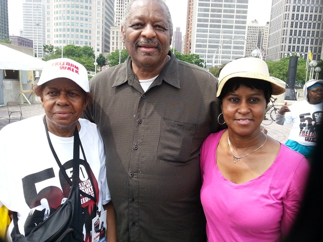 People's attorney Leonard Eston and family members after Dr. Martin Luther King, Jr. Freedom Walk in Detroit June 22. 2013