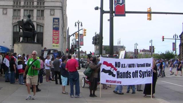 Anti-war march in Detroit Sept. 8, 2013.
