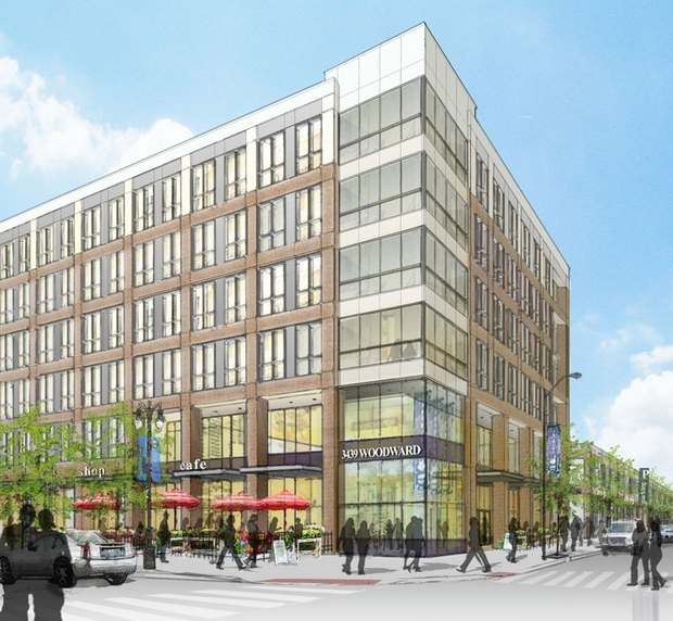 Proposed plan for Queen Lillian office complex.