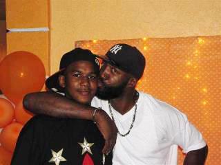 Trayvon Martin with his dad Tracy Martin.