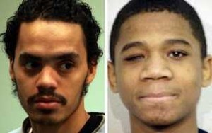 Vincent Smothers (l) confessed to killings for which Davontae Sanford (shown at 14) was convicted.