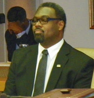 Councilman James Tate at meeting Oct. 1, 2013.