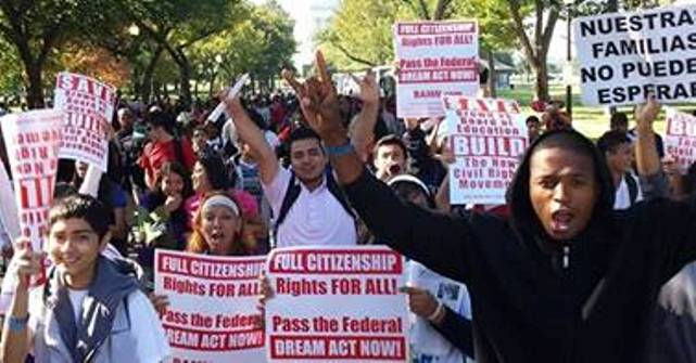 Detroit students march to support affirmative action in Washington, D.C. 2013.