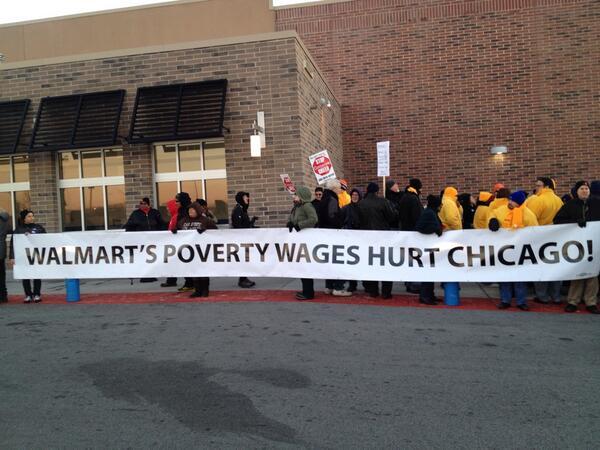 Walmart Chicago strike.