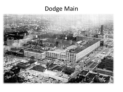 Historic Dodge Main Plant in Detroit was the first out of dozens to close.