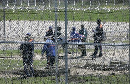 Prisoners at Ryan Correctional Facility in Detroit.