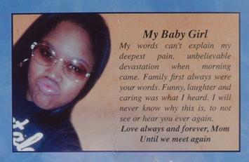 Photo from Renisha McBride's funeral program.