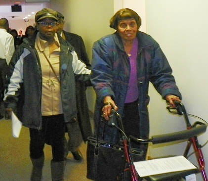 Griswold tenants leave Council hearing Nov. 19, 2013.