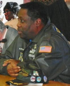 Lt. Colonel Milburn of Tuskegee Airmen testifies for Davis Aerospace School