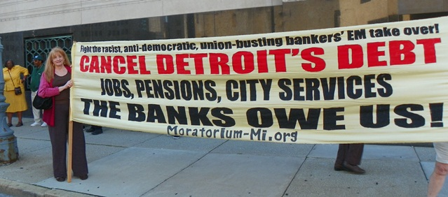 Reparations for Detroit, not bankruptcy.