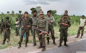 Cuban troops support the MPLA in Angola.