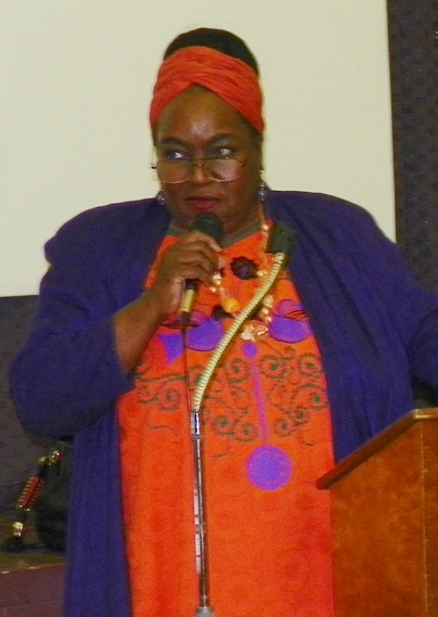 Detroit City Councilwoman JoAnn Watson at Moratorium NOW! rally against banks May 4, 2013.