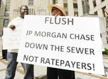 Protesters against JP Morgan Chase debt in Birmingham, Ala.