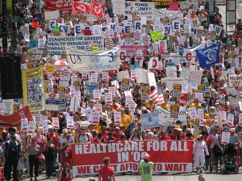 Health Care for ALL march Photo courtesy Greencare