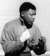 The young Nelson Mandela was an athlete and boxer.