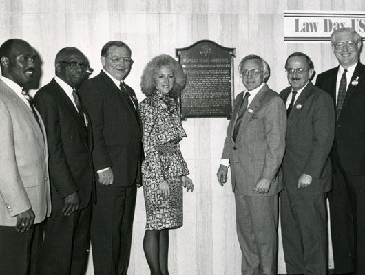 1961–1962 Constitutional Convention—The Michigan Constitution we live under today was written at the Lansing Civic Arena. The Michigan Legal Milestone plaque was first dedicated in 1989, at the Arena at the corner of Walnut and Washtenaw streets.