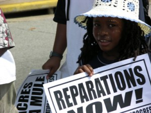 Child in U.S. demands reparations.