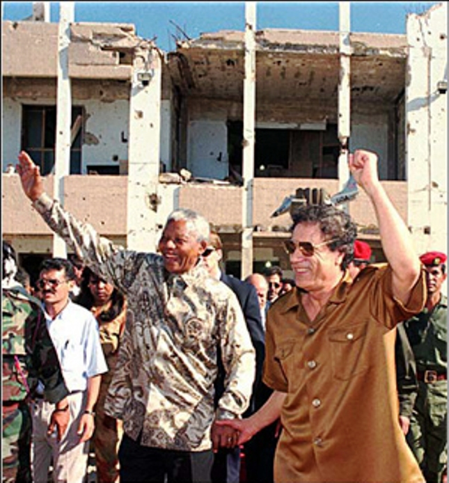 Nelson Mandela supported Muammar Gadhafi's Libya from the U.S. bombing of his home and murder of his daughter in 1987 through the U.S.-NATO invasion of recent years. Gadhafi, like Mandela, believed in providing for the needs of the people across the African continent, but both were thwarted by U.S. economic and military intervention, including the demise of the socialist countries which had supported the ANC, under pressure from the U.S.