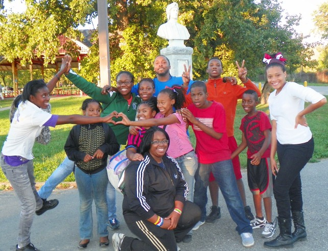 Detroit youth on Belle Isle, which is now run by the state. Youth like these will be at peril from state troopers.