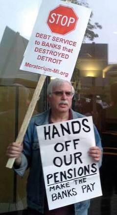Attorney Goldberg represents city retiree David Sole of the Moratorium Now Coalition.