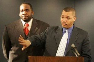 Former Mayor Kwame Kilpatrick and his CFO Sean Werdlow, who negotiated the COPS deal and then got a top management job with one of the lenders.