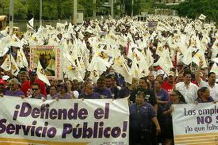 San Juan Puerto Rico protest to protect public services from privatization.