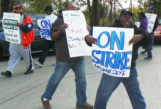 Workers at Detroit's Wastewater Treatment Plant, part of six-county system built and paid for by Detroiters, struck Sept. 30, 2012 in an effort to stop the takeover of the department, the third largest in the country.