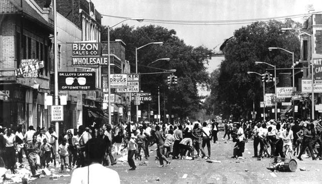 Detroit's Black population rose up in 1967 against intolerable conditions of poverty and police brutality. The conditions are comparable today. Whites and real estate agents used this as an excuse for the ignominious white flight.