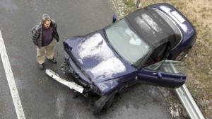 Whether this accident was the driver's fault or not, his insurance rates will skyrocket.