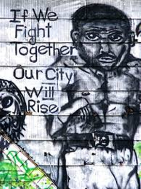 Graffiti If we fight together our city will rise